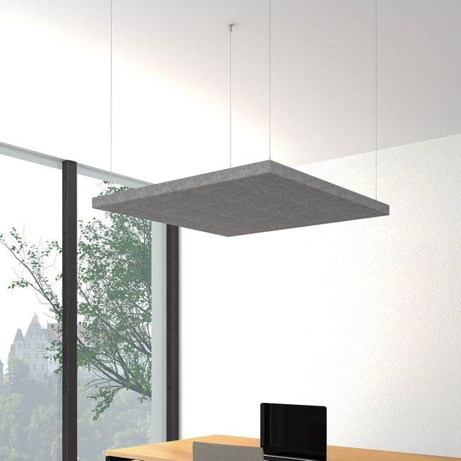 Akustik Deckensegel MODUS horizontal Komplettsystem Akustikplatten Paneel Filz