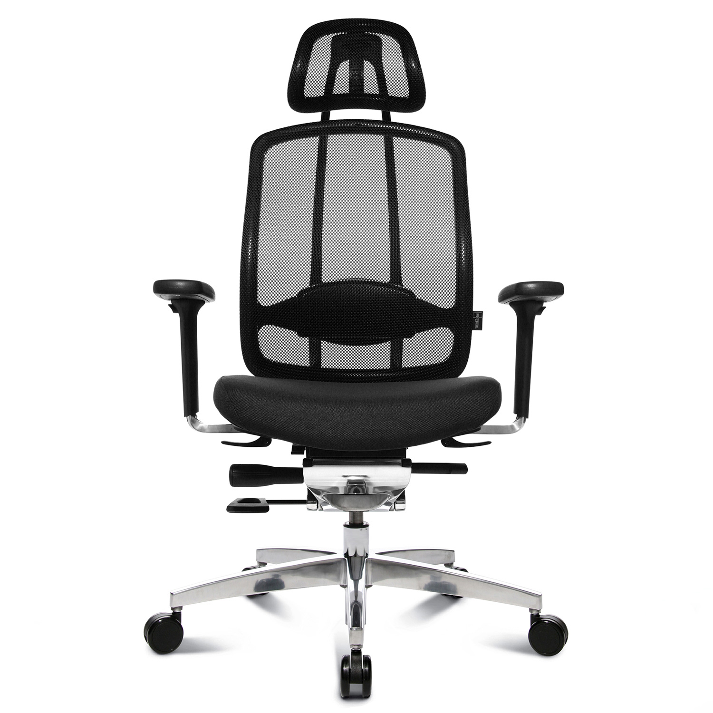 Wagner AluMedic 10 mit Kopfstütze Schwarz Büro Stuhl Bürodrehstuhl Chefsessel