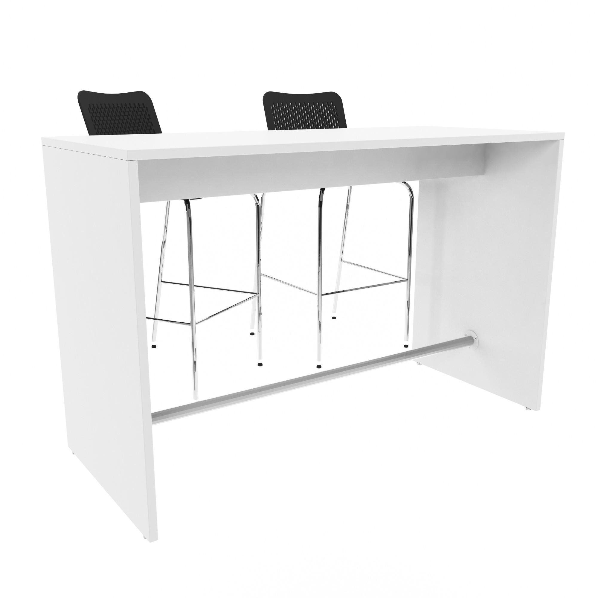 stehtisch light 160 x 70 cm gro im edlen wei bartisch. Black Bedroom Furniture Sets. Home Design Ideas