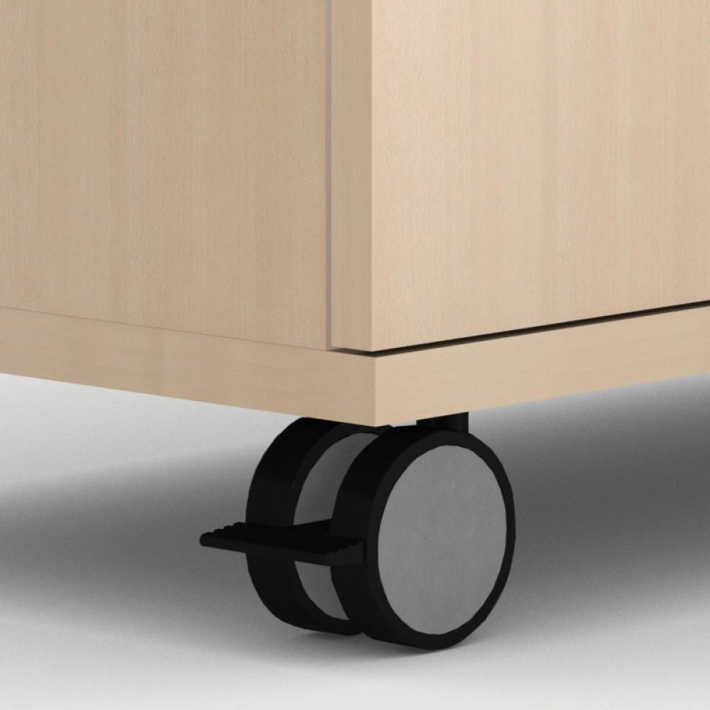 4 Stück Möbel-Rollen 400 KG belastbar 80 mm Durchmesser ideal als Möbelrolle