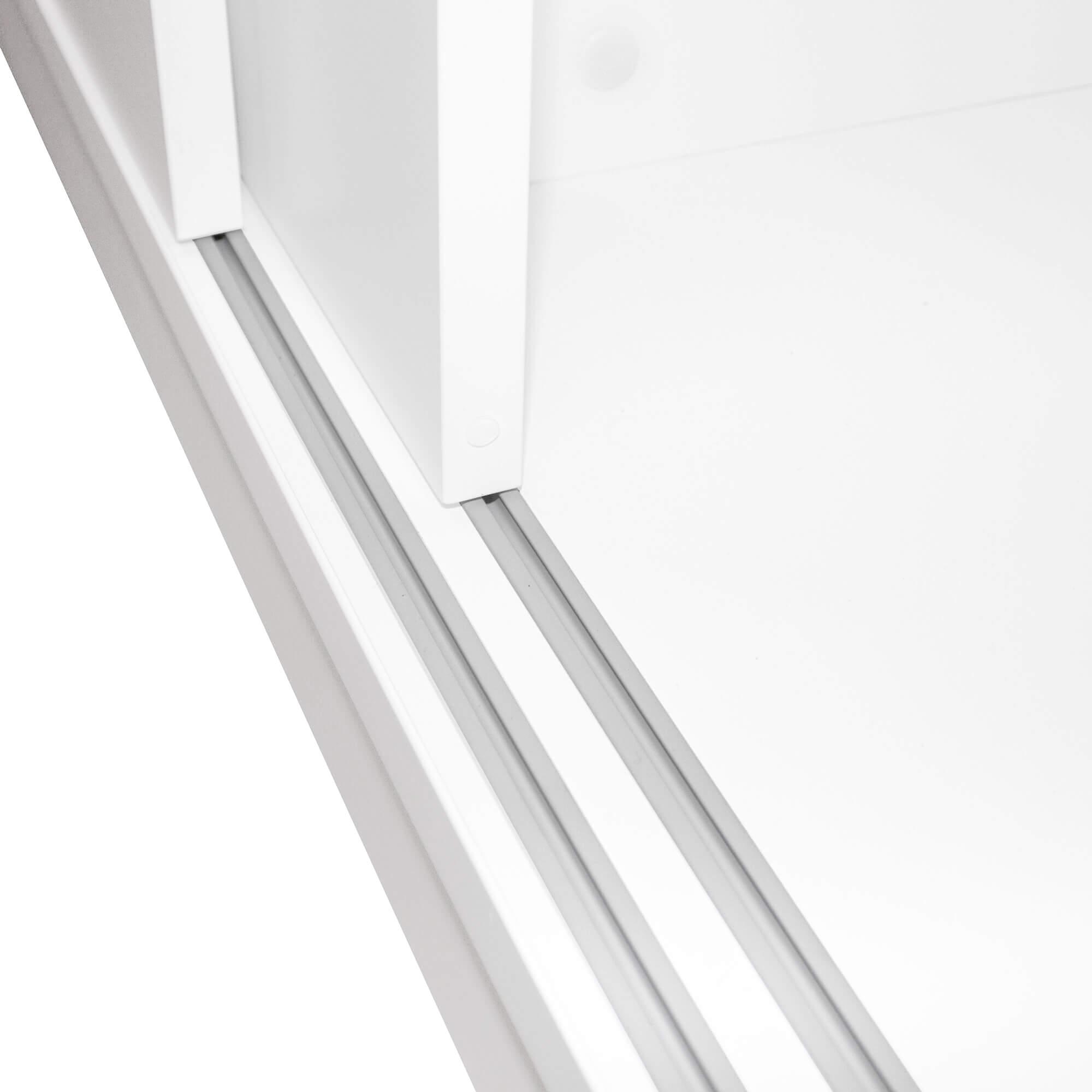 Schiebetürenschrank für Gruppenarbeitsplatz NOVA 2OH 1640 x 400 mm in Weiß