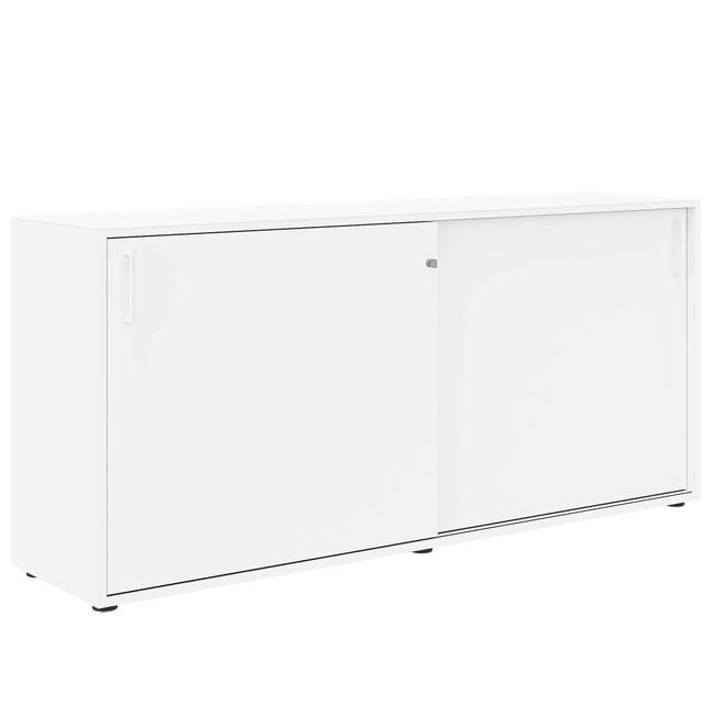 Anstell-Schiebetürenschrank NOVA Bench, (BxH) 1.640 x 740 mm, Weiß – Bild 2