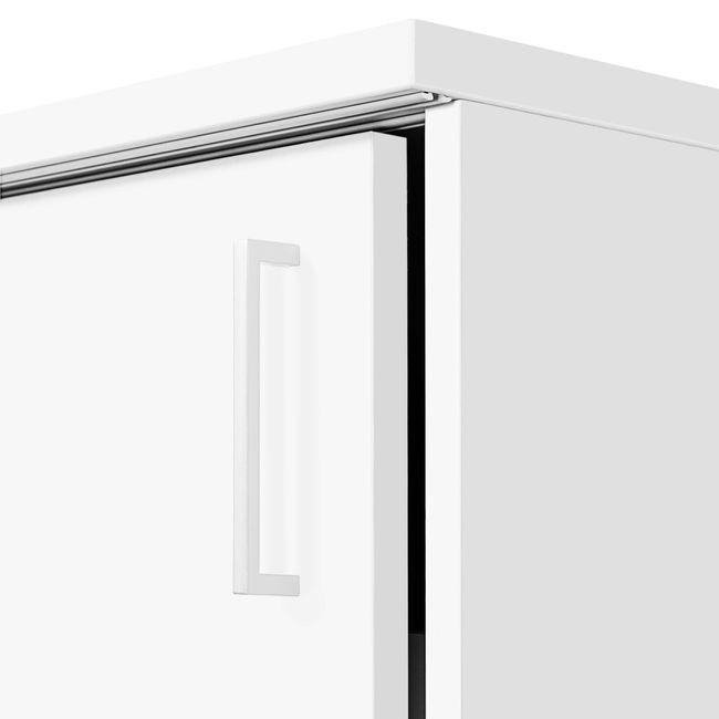 Anstell-Schiebetürenschrank NOVA Bench, (BxH) 1.640 x 740 mm, Weiß – Bild 6