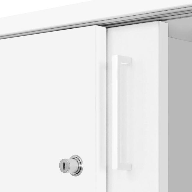Anstell-Schiebetürenschrank NOVA Bench, (BxH) 1.640 x 740 mm, Weiß – Bild 7