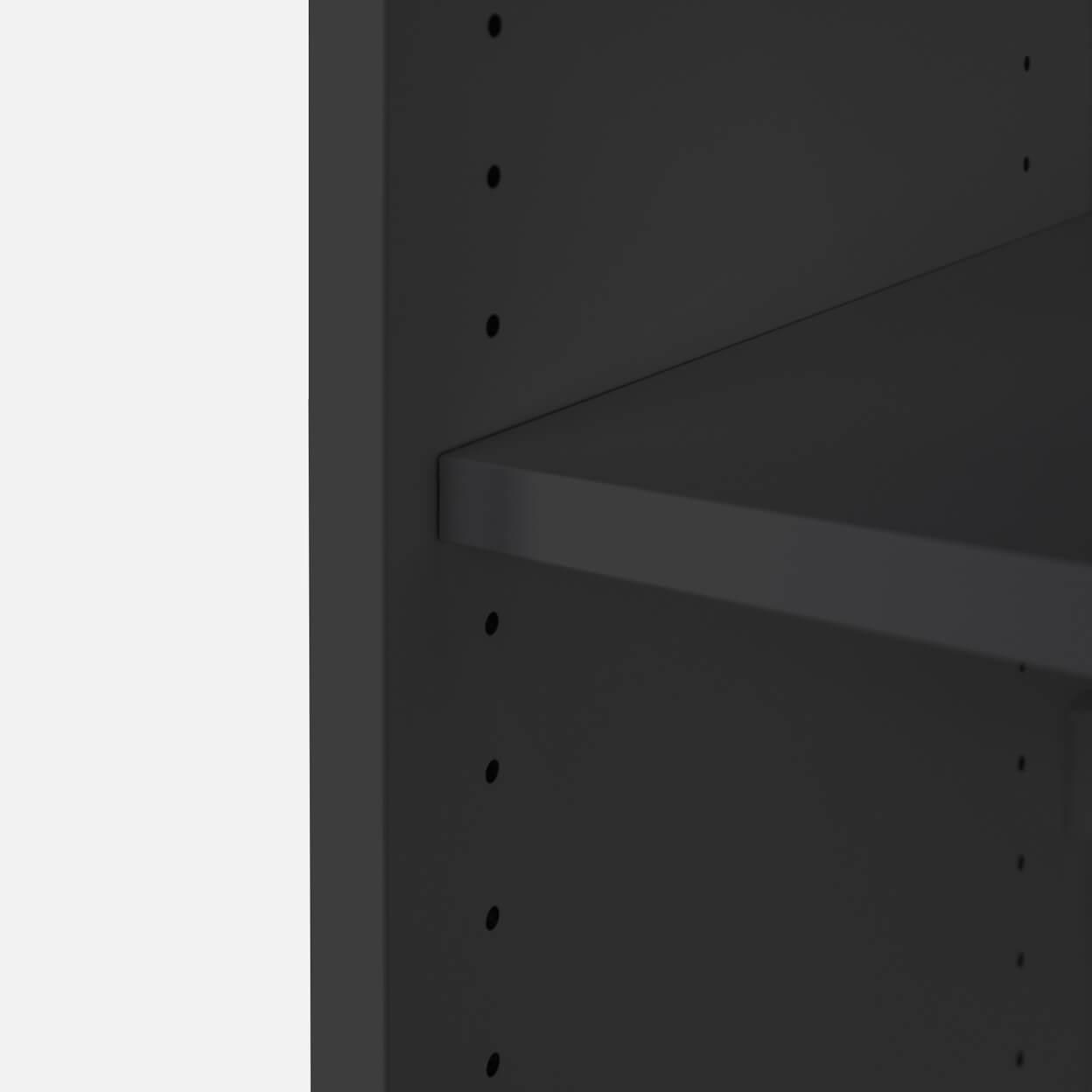 PROFI Aktenschrank abschließbar 2OH Weiß-Anthrazit Schrank Büroschrank Flügeltürenschrank