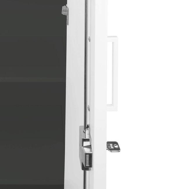 UNI Flügeltürenschrank   2 OH, 800 x 777 mm, Anthrazit / Weiß