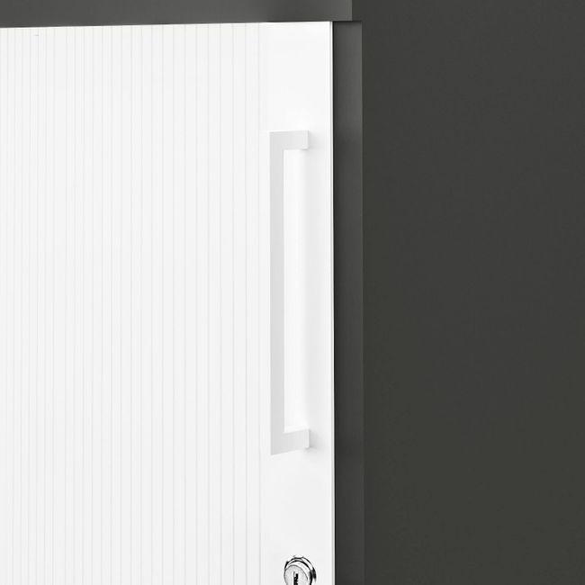 UNI Querrollladenschrank   2 OH, 1000 x 777 mm, Anthrazit / Weiß