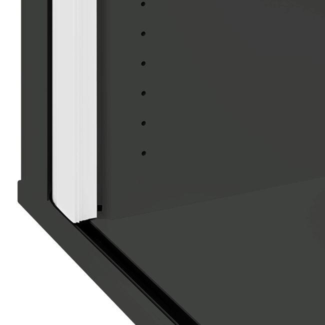 UNI Querrollladenschrank   3 OH, 1000 x 1143 mm, Anthrazit / Weiß