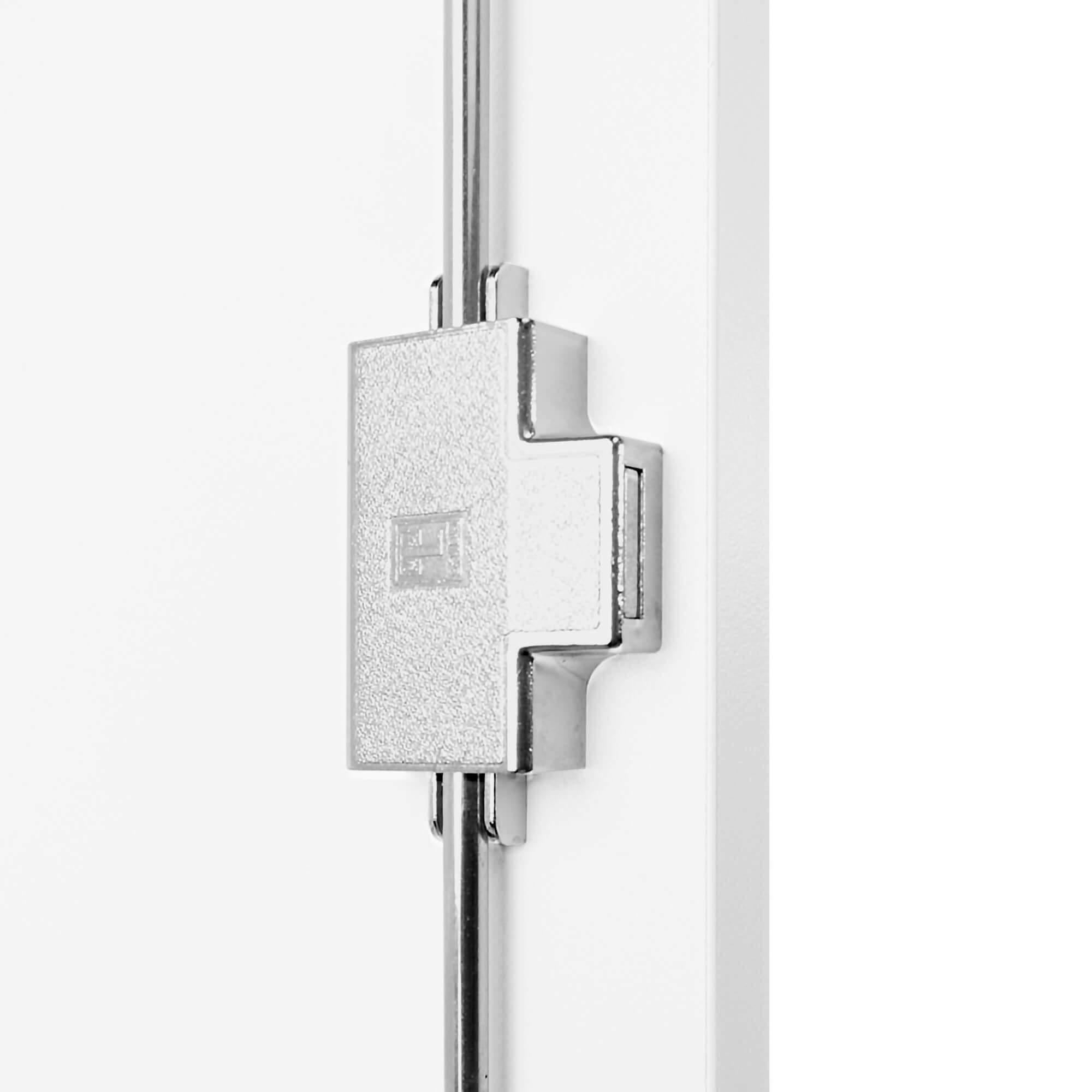 PROFI Kombischrank abschließbar 5 OH Weiß-Anthrazit Schrank Büroschrank Flügeltürenschrank