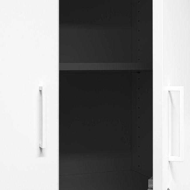 UNI Kombischrank | 5 OH, 800 x 1897 mm, Anthrazit / Weiß