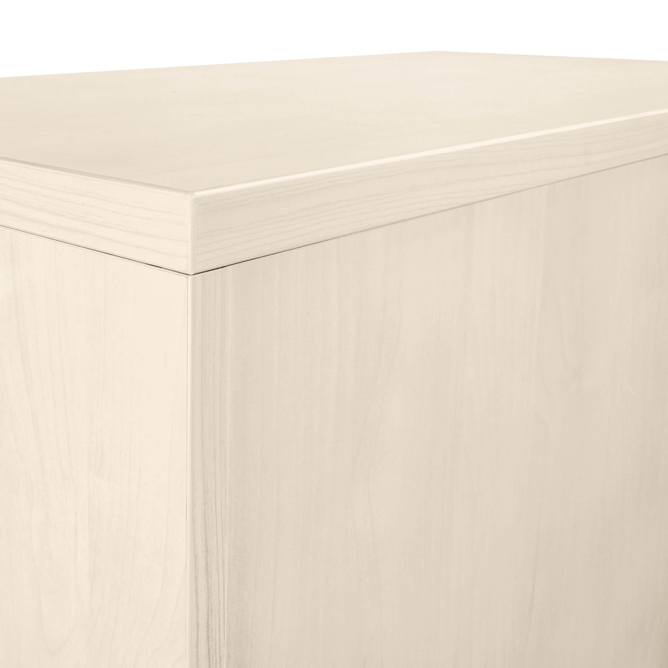 PROFI Aktenschrank abschließbar 2OH Weiß-Ahorn Schrank Büroschrank Flügeltürenschrank