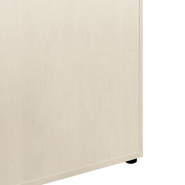 UNI Flügeltürenschrank | 3 OH, 800 x 1143 mm, Ahorn / Weiß