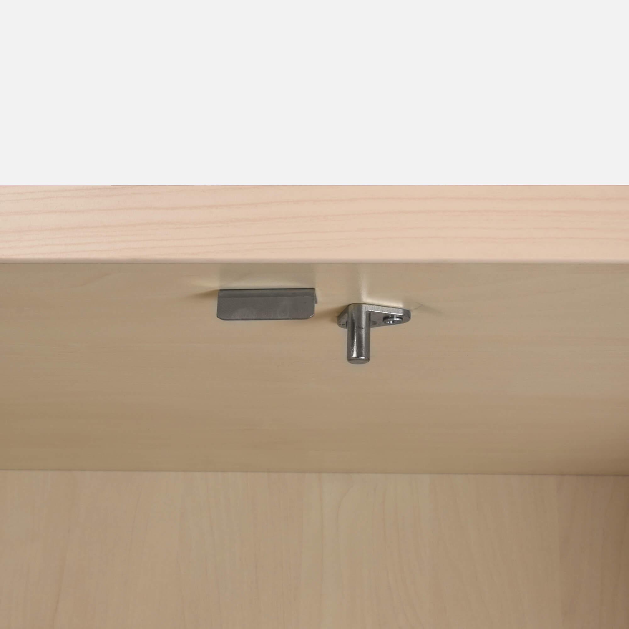 PROFI Aktenschrank abschließbar 5 OH Weiß-Ahorn Schrank Büroschrank Flügeltürenschrank