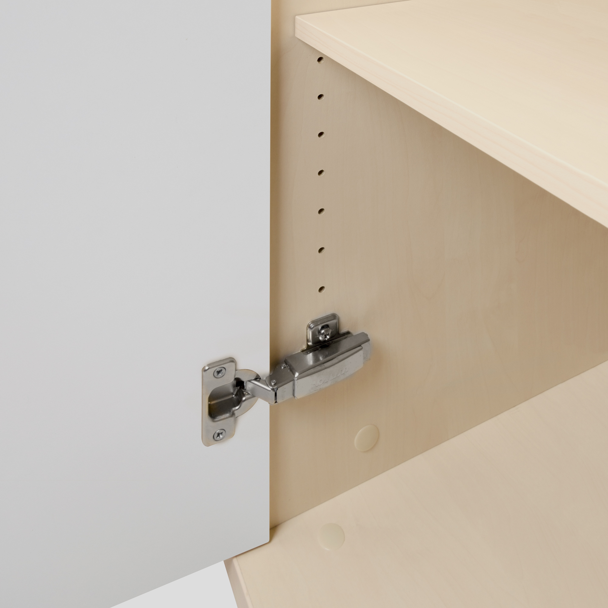PROFI Kombischrank abschließbar 5 OH Weiß-Ahorn Schrank Büroschrank Flügeltürenschrank