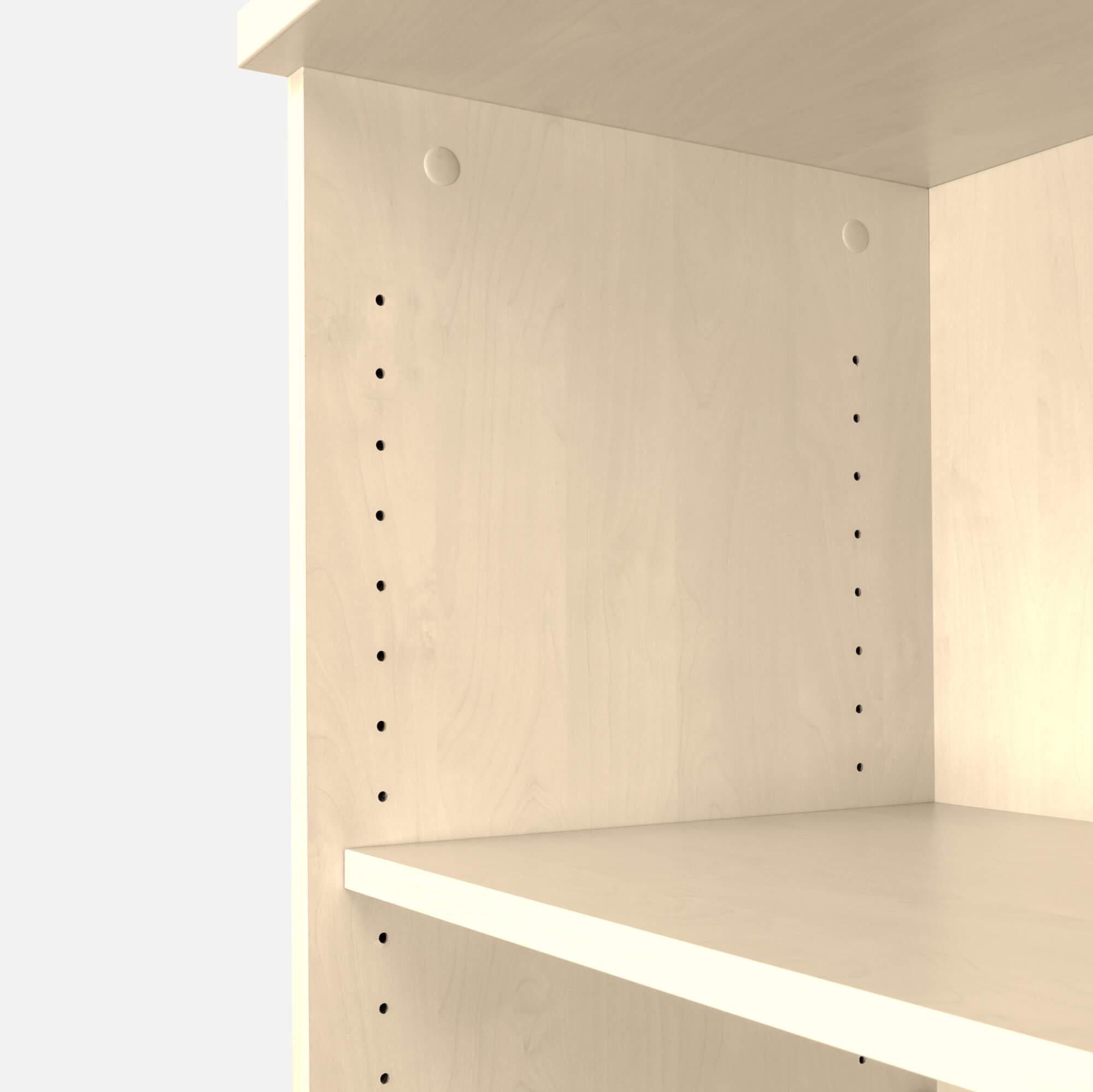 UNI Schiebetürenschrank abschließbar 1,2M Weiß-Ahorn Schrank Büroschrank Aktenschrank