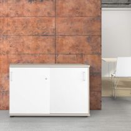 Schiebetürenschrank UNI 2 OH, (BxH) 1.200 x 777 mm, Ahorn-Weiß