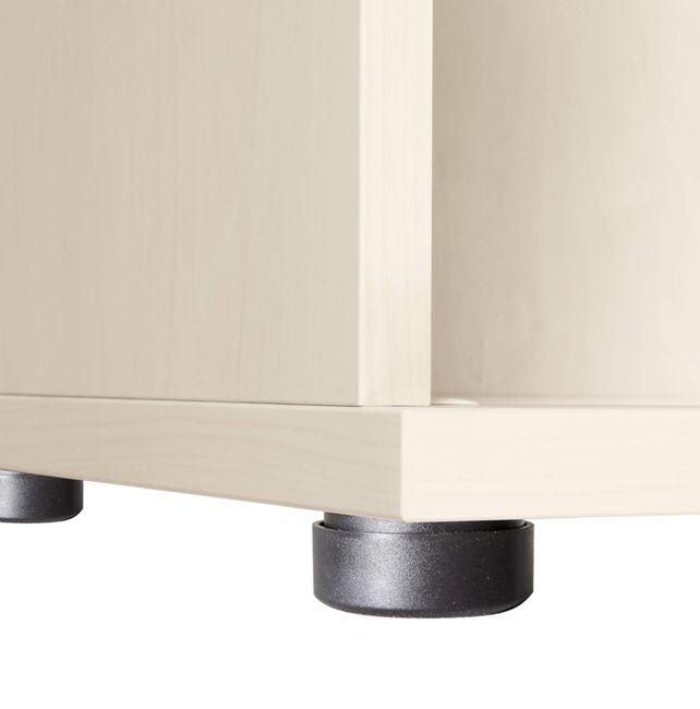 UNI Schiebetürenschrank | 3 OH, 1000 x 1143 mm, Ahorn / Weiß