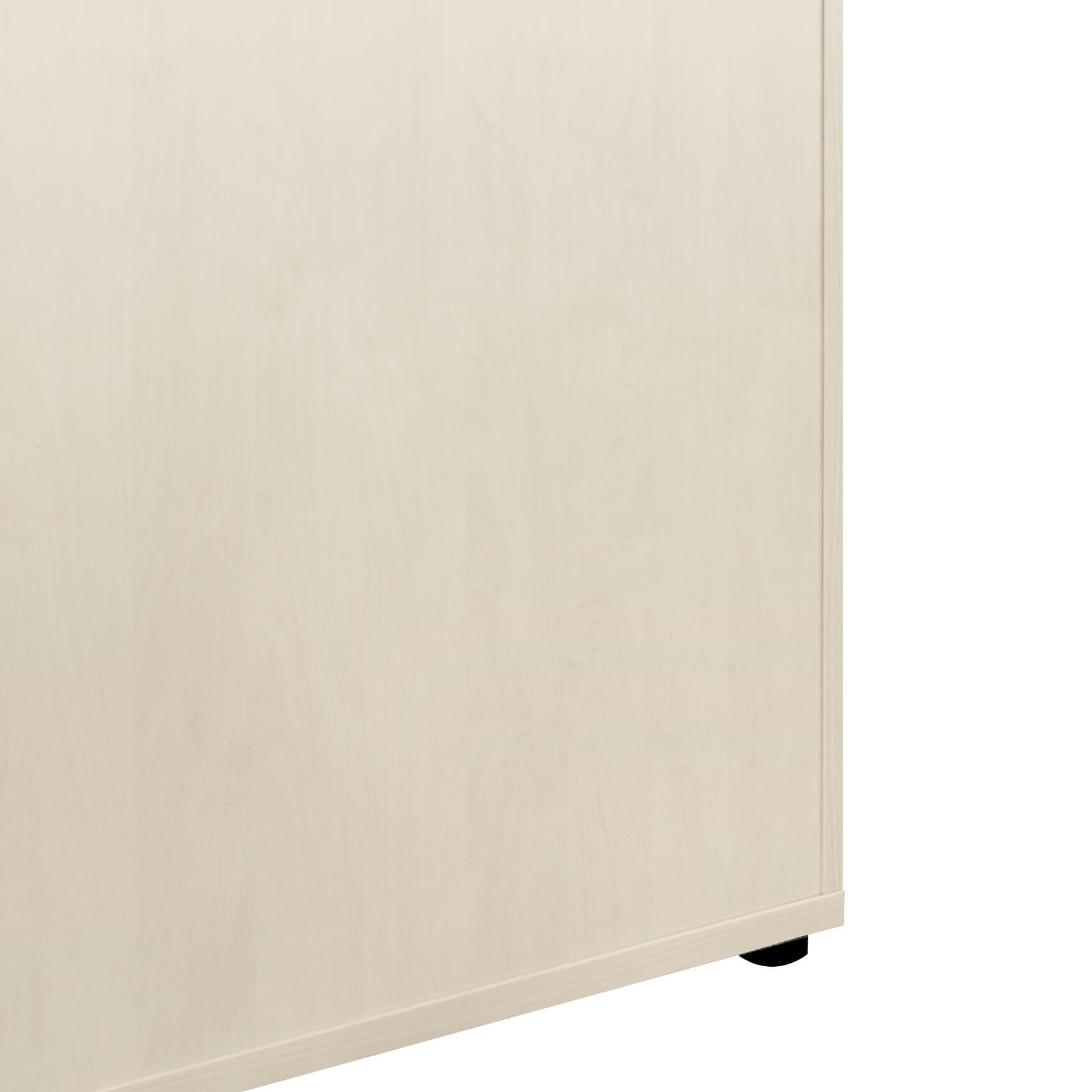 UNI Aktenschrank 1,2M abschließbar 3 OH Weiß-Ahorn Büroschrank Schiebetürenschrank