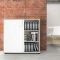Schiebetürenschrank UNI 3 OH, (BxH) 1.200 x 1.143 mm, Ahorn-Weiß