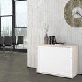 Querrollladenschrank UNI 2 OH, (BxH) 1.000 x 777 mm, Ahorn-Weiß