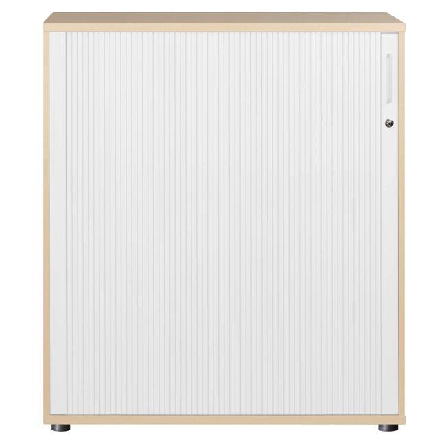 UNI Querrollladenschrank | 3 OH, 1000 x 1143 mm, Ahorn / Weiß