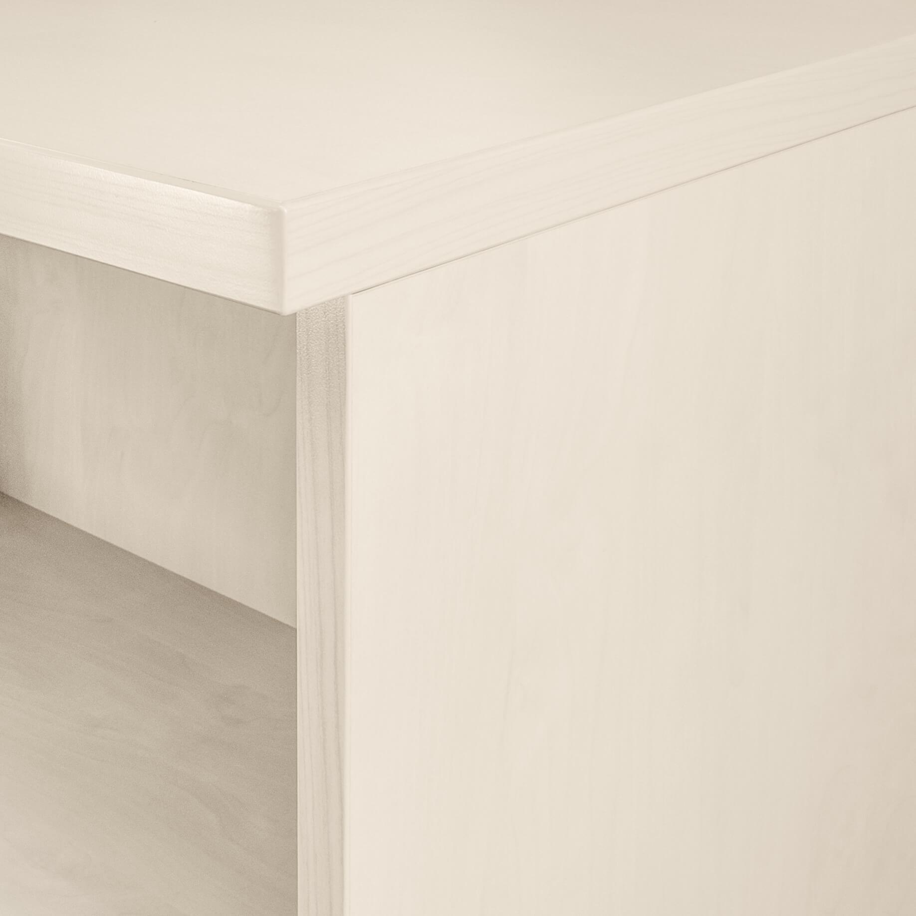 PROFI Aktenschrank abschließbar 5OH Weiß-Ahorn Schrank Büroschrank Schiebetürenschrank