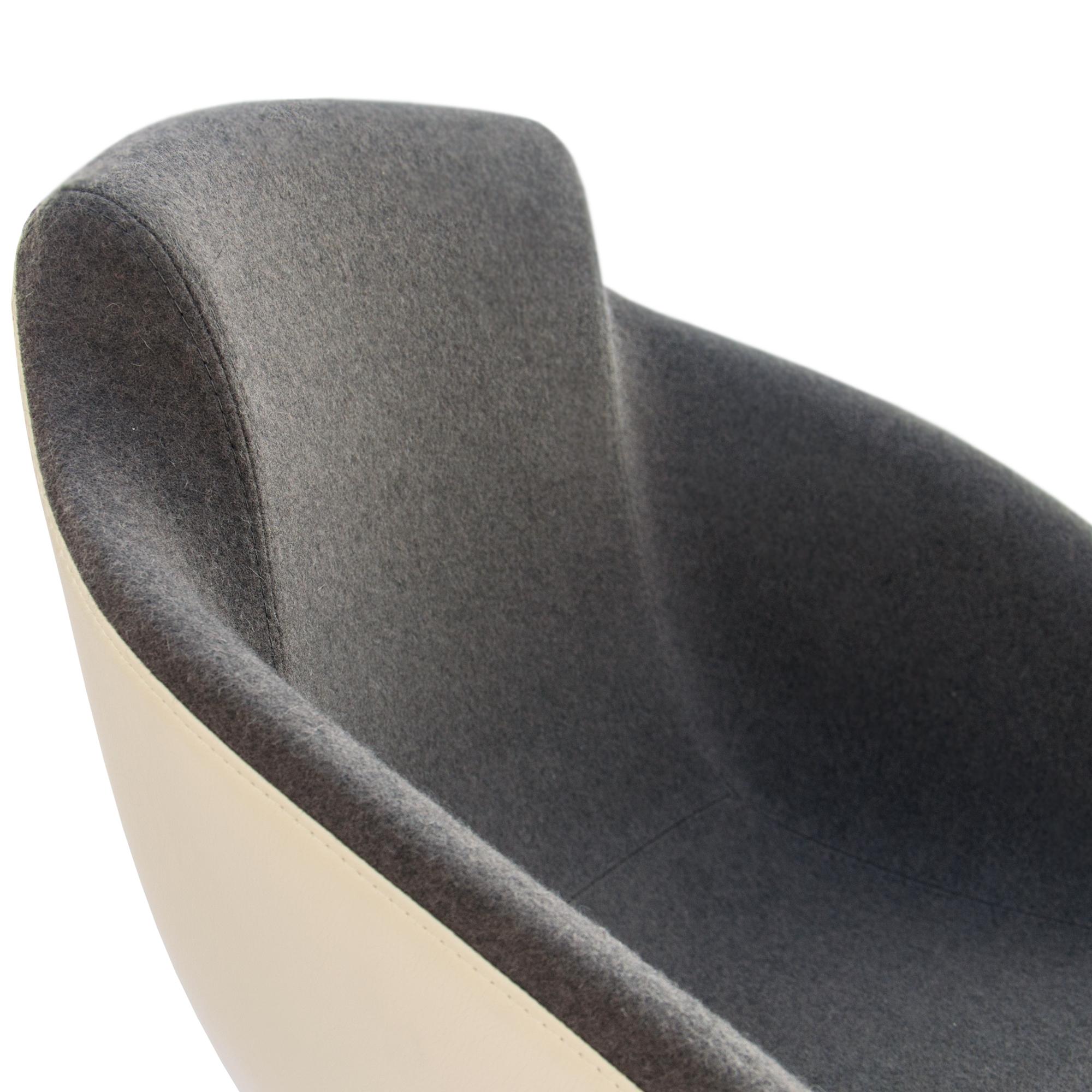 Loungesessel TULA auf Rollen in Kunstleder Sessel Stuhl Hocker