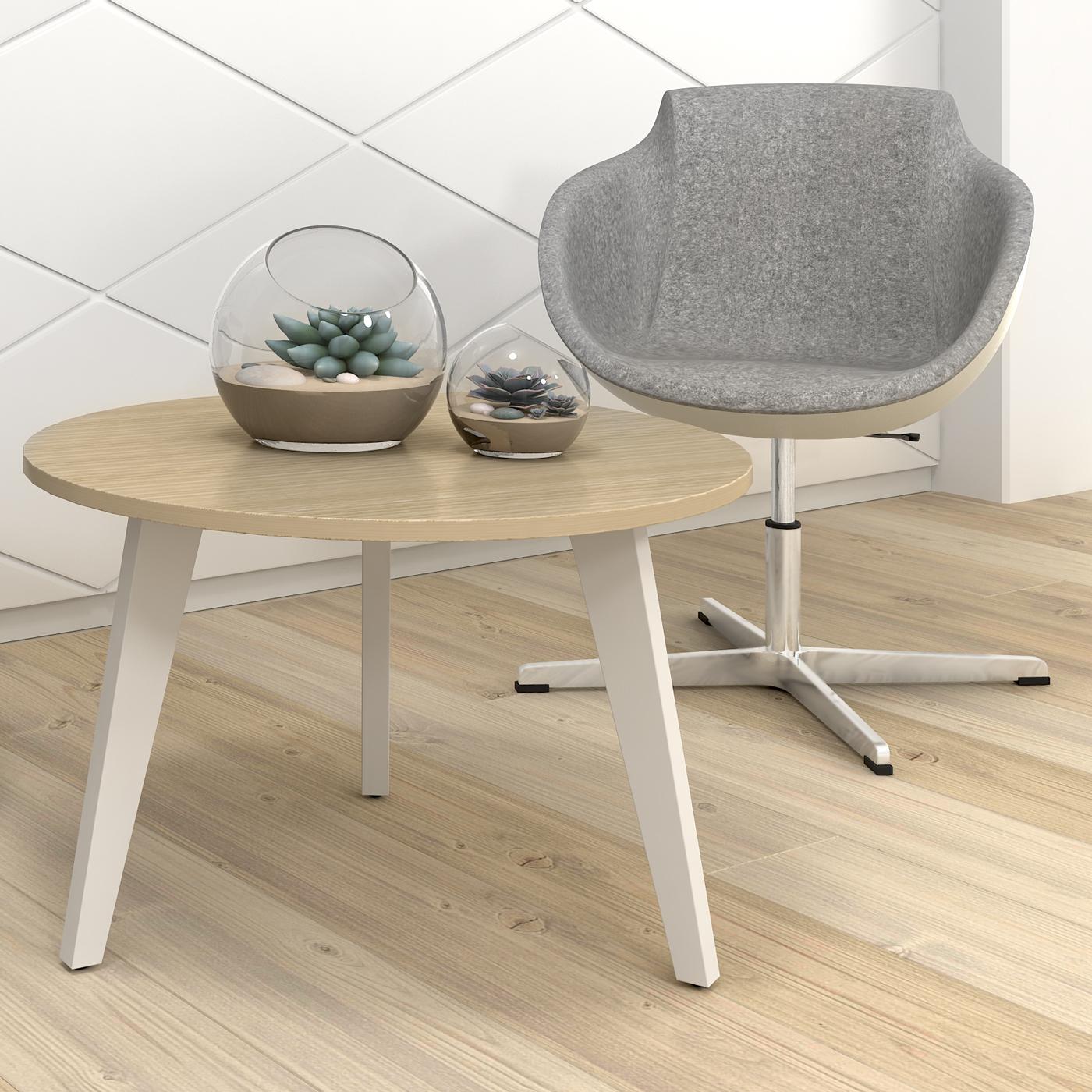 Loungesessel TULA mit Fußkreuz mit Wollbezug Sessel Stuhl Hocker