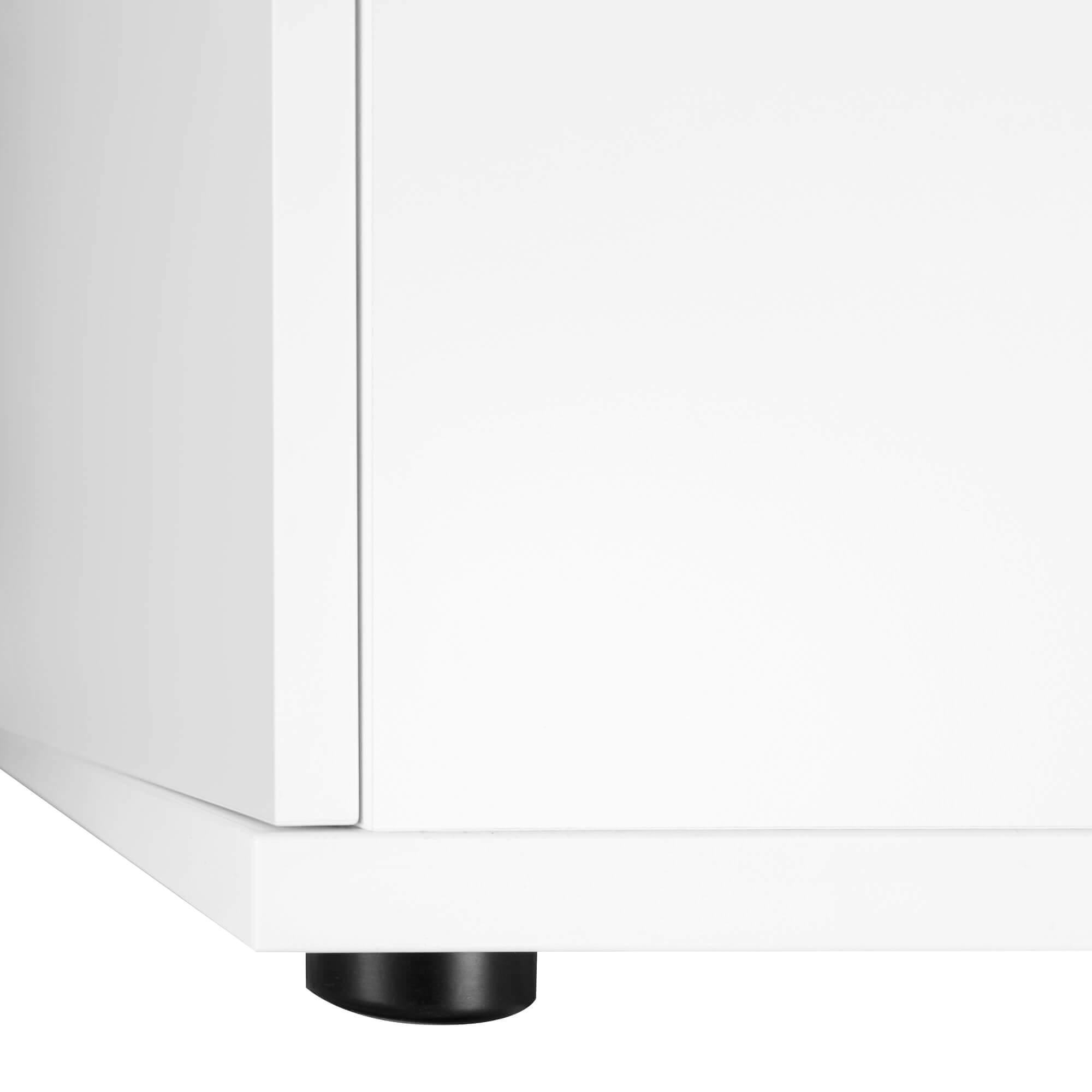 UNI Aktenschrank abschließbar 5 OH Weiß Schrank Büroschrank Flügeltürenschrank