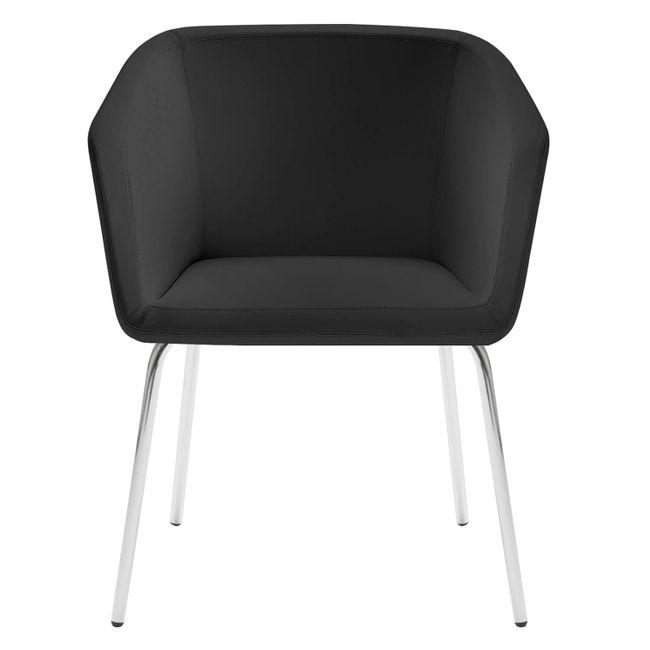 MEG Lounge-Sessel   4-Fuß-Gestell, Kunstleder