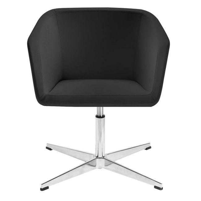 MEG Lounge-Sessel | 4-Fuß-Kreuz, höhenverstellbar, Kunstleder