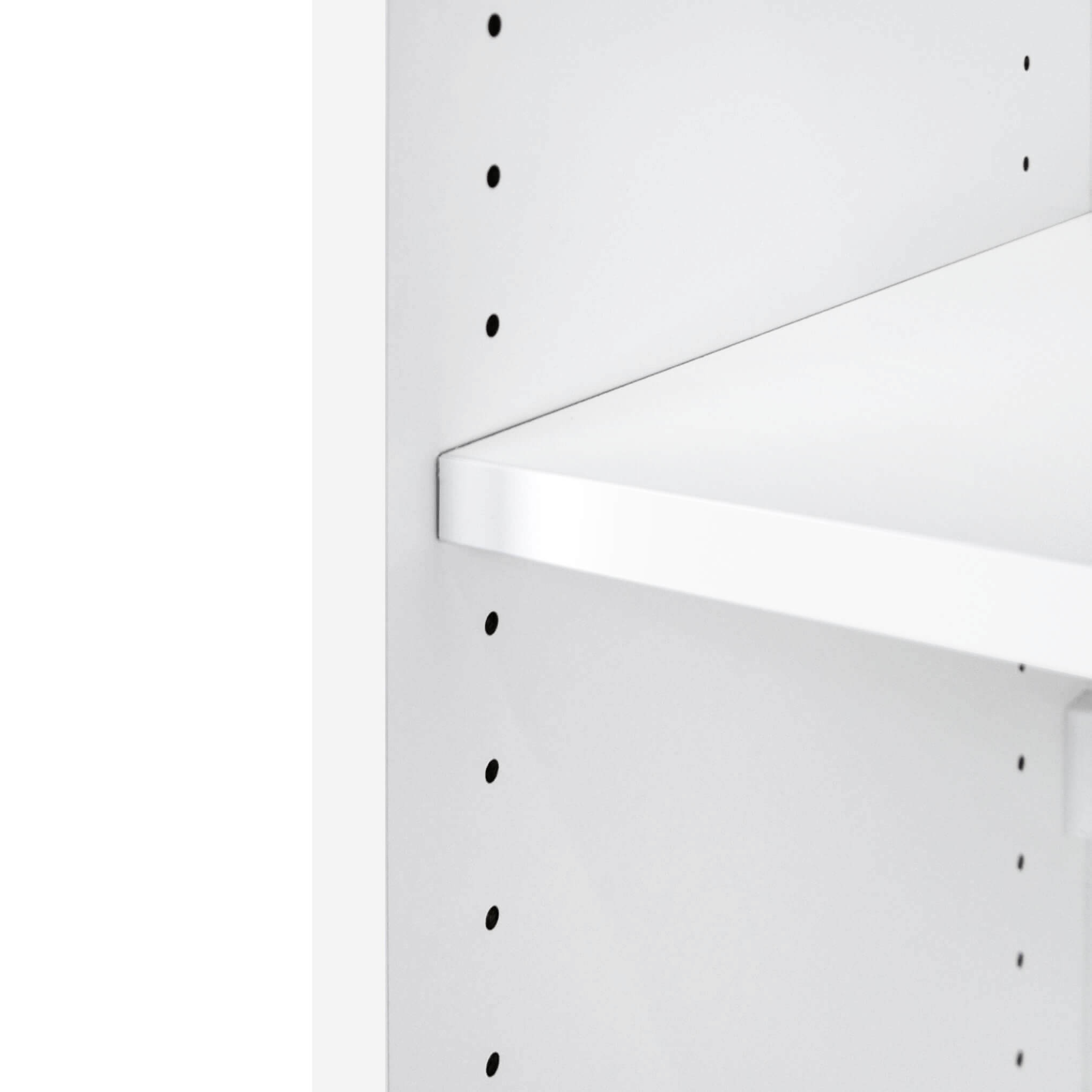 PROFI Schrankwand abschließbar Schrank Büroschrank Flügeltürenschrank Regalschrank 3 OH Weiß