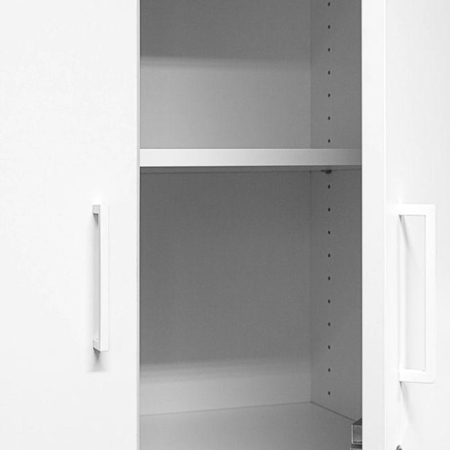 Schrankwand UNI 3 OH, (BxH) 2.400 x 1.143 mm, Weiß – Bild 4