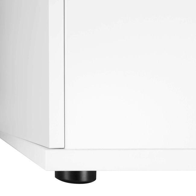 Schrankwand UNI 3 OH, (BxH) 2.400 x 1.143 mm, Weiß – Bild 10