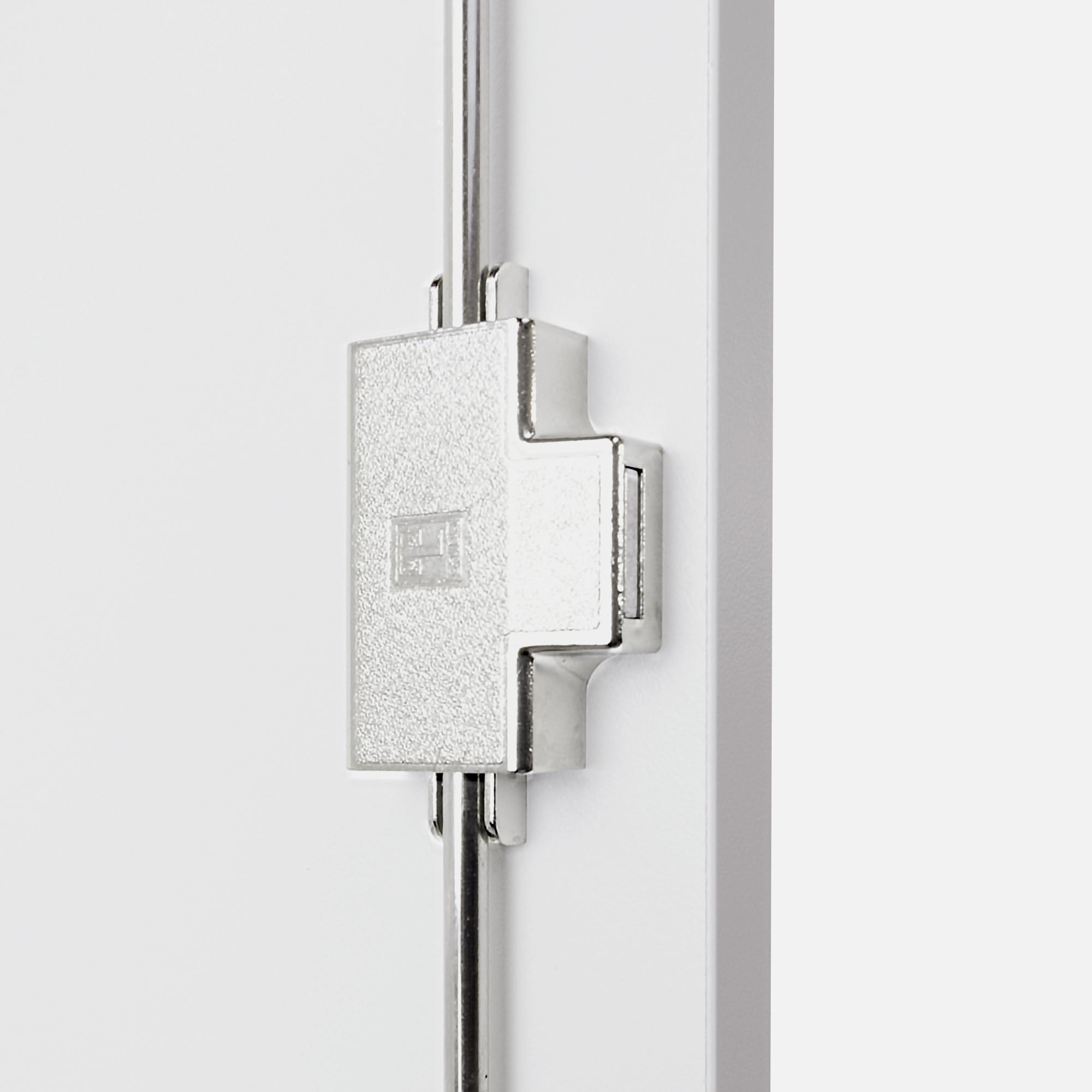 PROFI Schrankwand abschließbar Schrank Büroschrank Flügeltürenschrank Regalschrank 5 OH Weiß