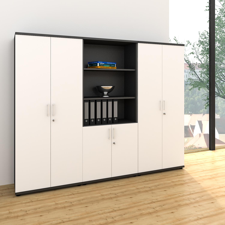 profi schrankwand abschlie bar schrank b roschrank fl gelt renschrank kombischra 4060618042188. Black Bedroom Furniture Sets. Home Design Ideas