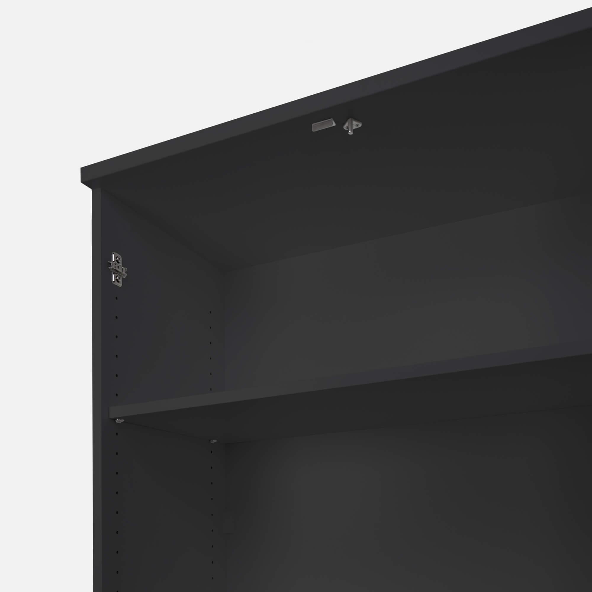 PROFI Schrankwand abschließbar Schrank Büroschrank Flügeltürenschrank Kombischrank 5 OH Anthrazit/Weiß