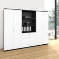 Schrankwand UNI 5 OH, (BxH) 2.400 x 1.897 mm, Anthrazit-Weiß