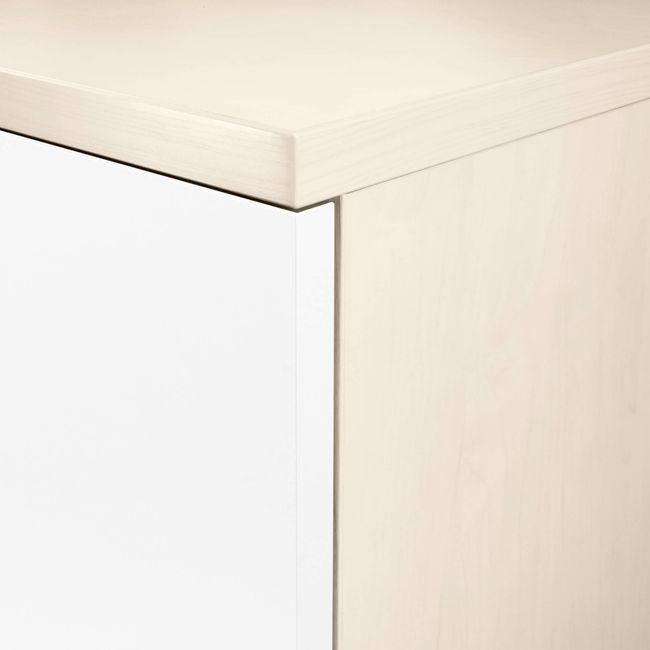UNI Schrankwand | 5 OH, 2400 x 1897 mm, Ahorn / Weiß