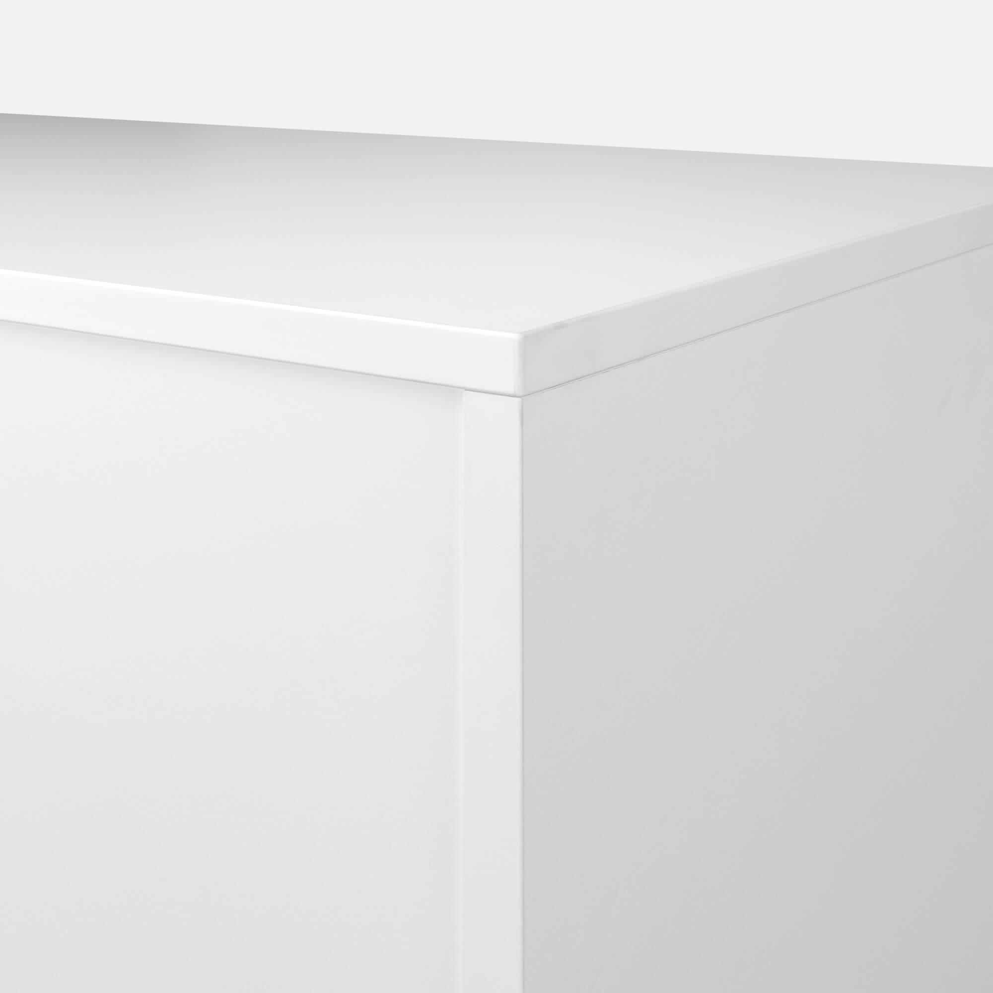 PROFI Schrankwand abschließbar Schrank Büroschrank Flügeltürenschrank Regalschrank 5 OH in Weiß