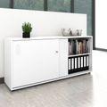Schiebetürenschrank NOVA 2 OH, (BxH) 1.640 x 740 mm, Weiß