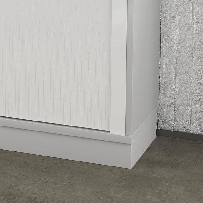 Holzsockel Sockel UNI 800 mm breit in Lichtgrau