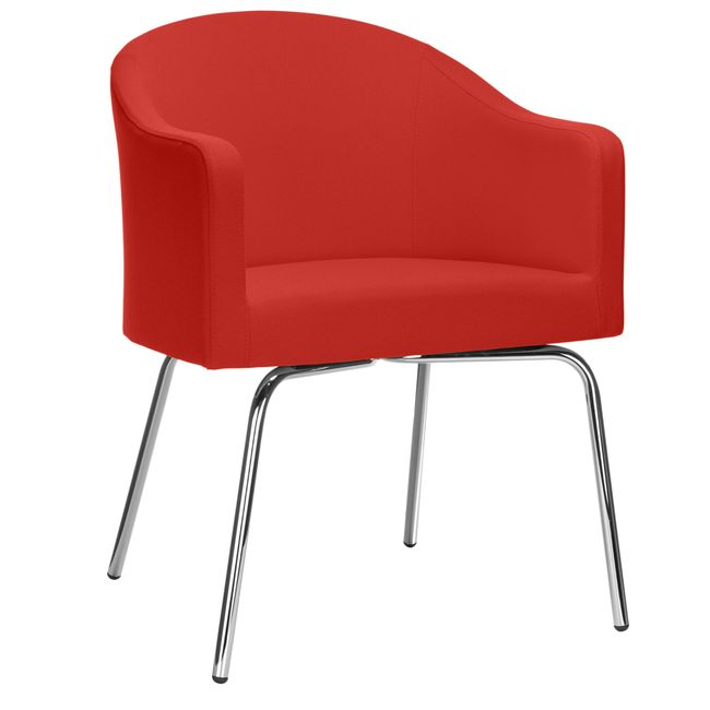 LUNA Lounge-Sessel   4-Fuß-Gestell, Bezugsstoffe LUCIA / VELITO / SYNERGY