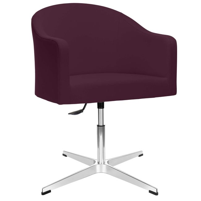 LUNA Lounge-Sessel | 4-Fuß-Kreuz, höhenverstellbar, Bezugsstoffe LUCIA / VELITO / SYNERGY