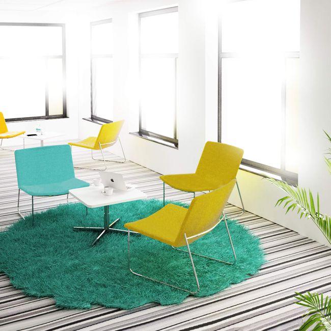 VEGAS Lounge-Sessel   Kufengestell, Bezugsstoffe LUCIA / VELITO / SYNERGY