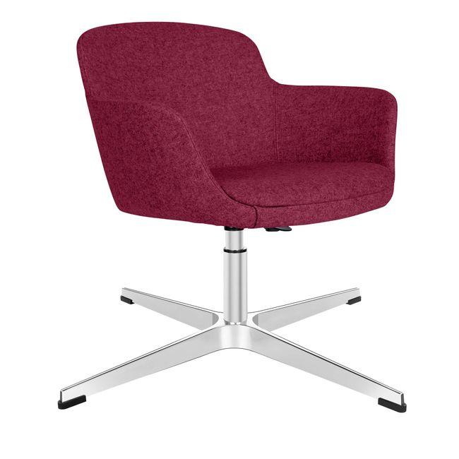 DANAE Lounge-Sessel | 4-Fuß-Kreuz, höhenverstellbar, Bezugsstoffe LUCIA / VELITO / SYNERGY