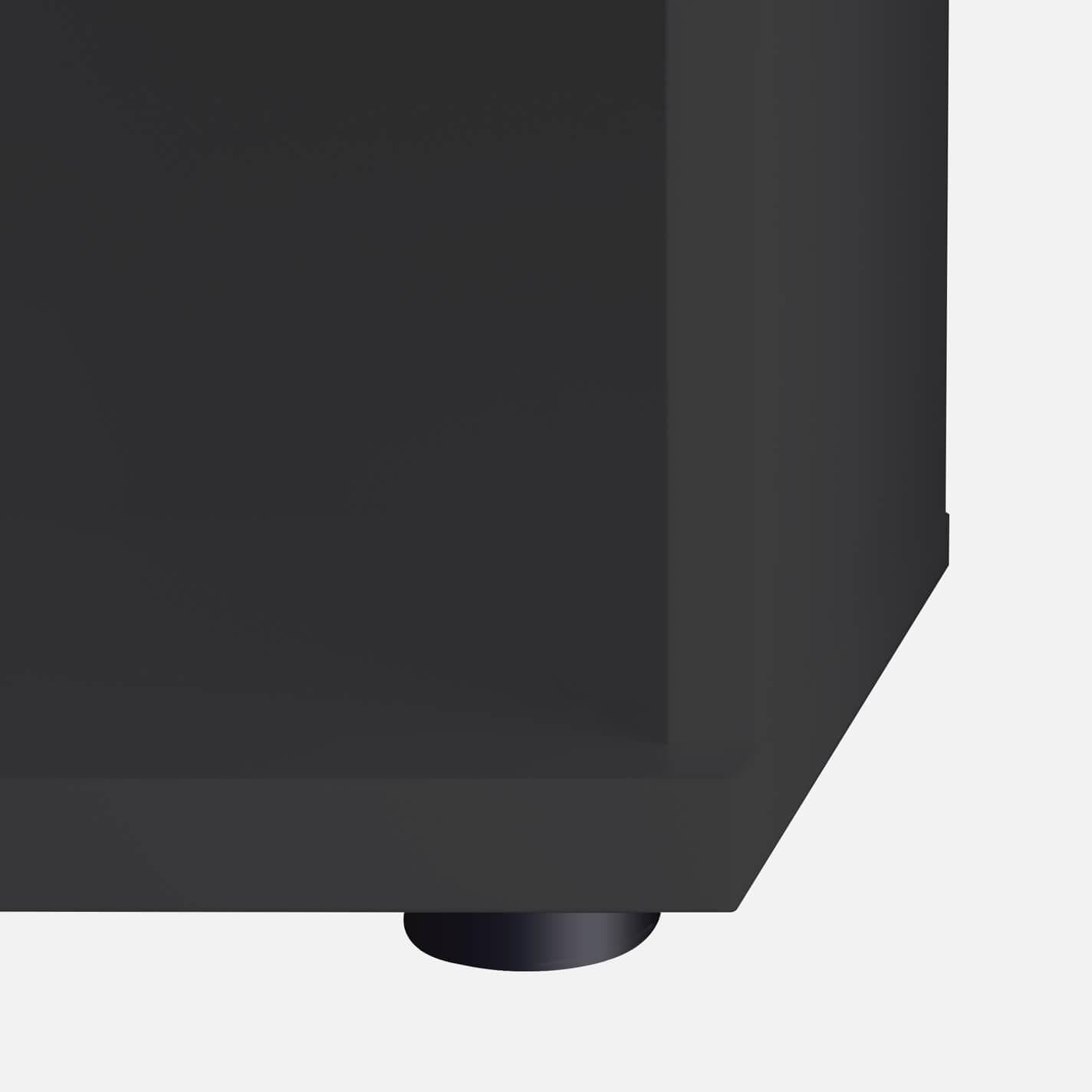 PROFI Schrankwand abschließbar Schrank Büroschrank Flügeltürenschrank Regalschrank 5 OH Anthrazit/Weiß