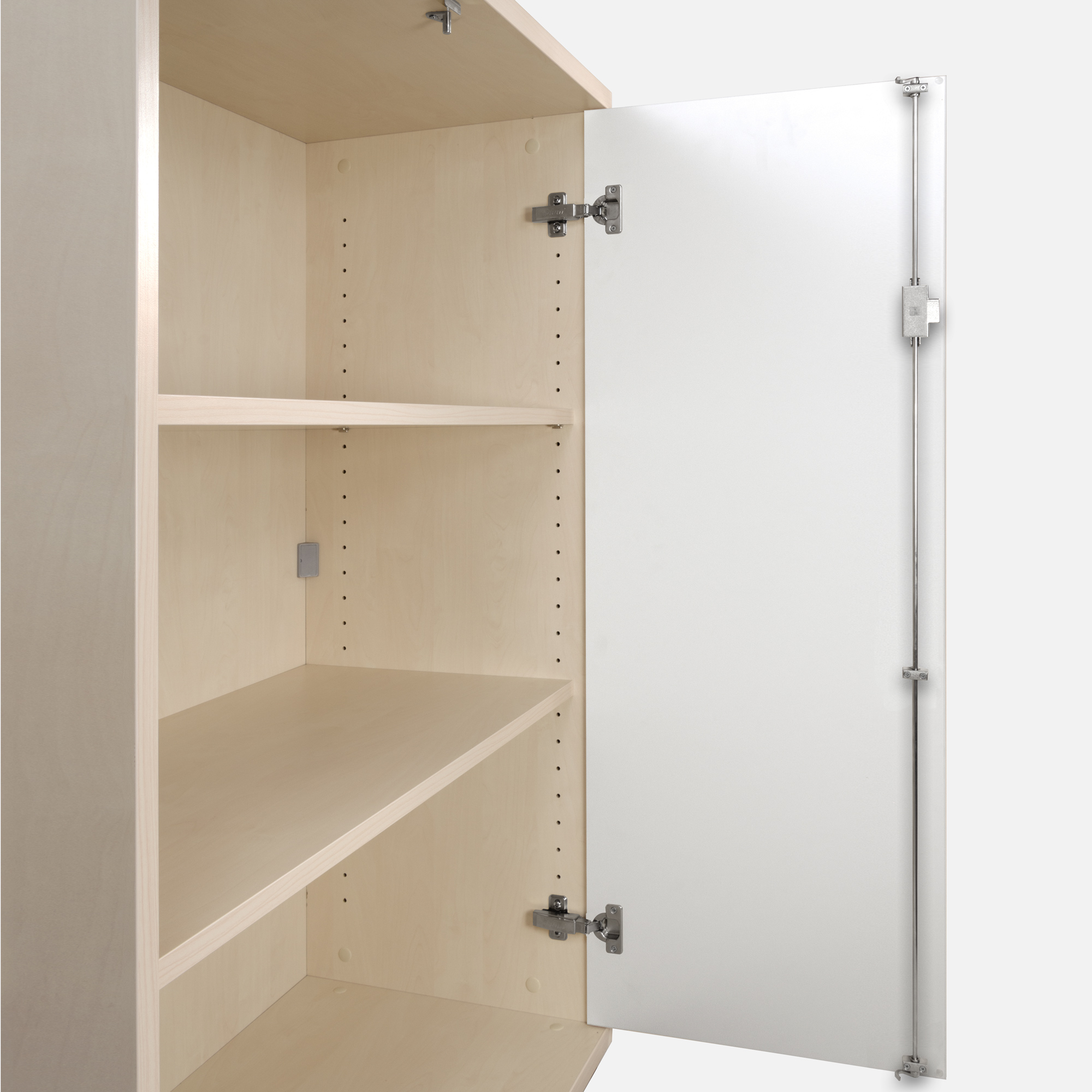 PROFI Schrankwand abschließbar Schrank Büroschrank Flügeltürenschrank Regalschrank 3 OH Ahorn/Weiß