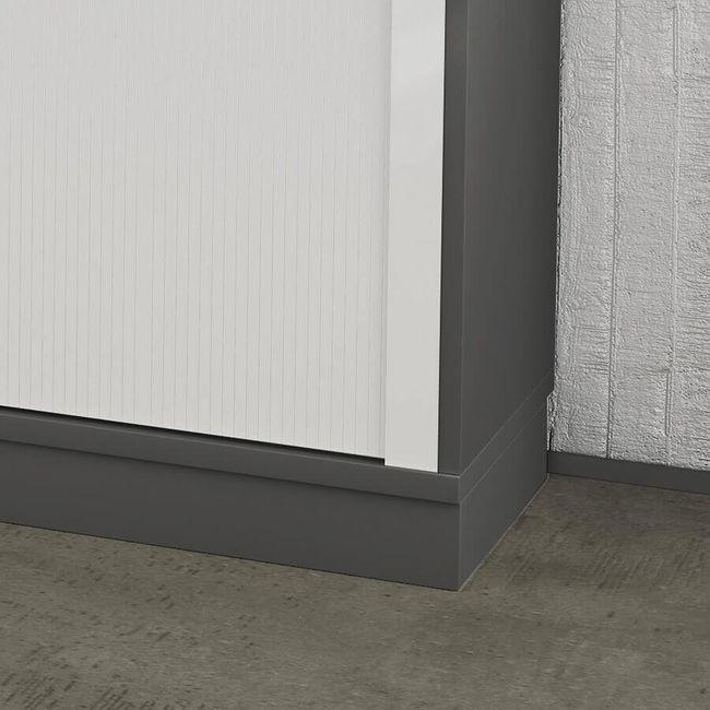 Holzsockel Sockel UNI 1.200 mm breit in Anthrazit