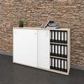 Schiebetürenschrank NOVA 3 OH, (BxH) 1.640 x 1.085 mm, Ahorn-Weiß